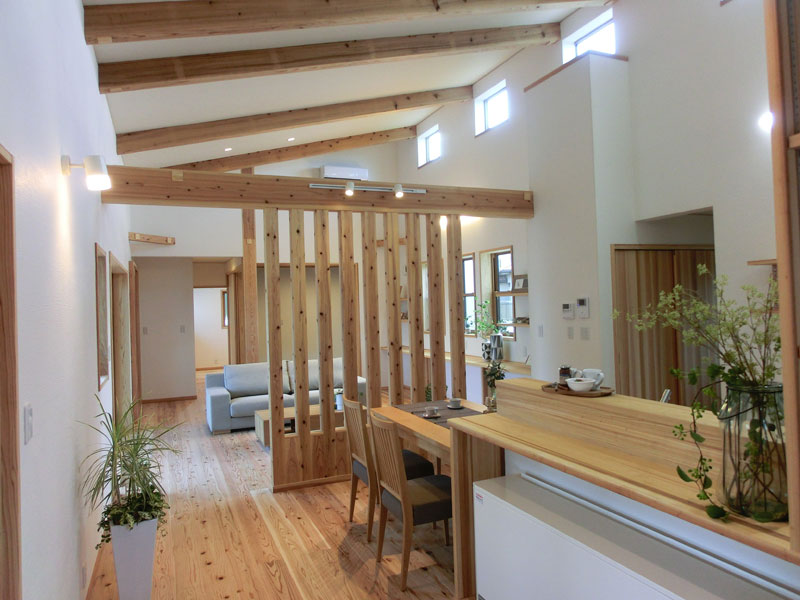 子供達と共に健康で快適にそして家族の暮らしを楽しめる自然素材で造る家!